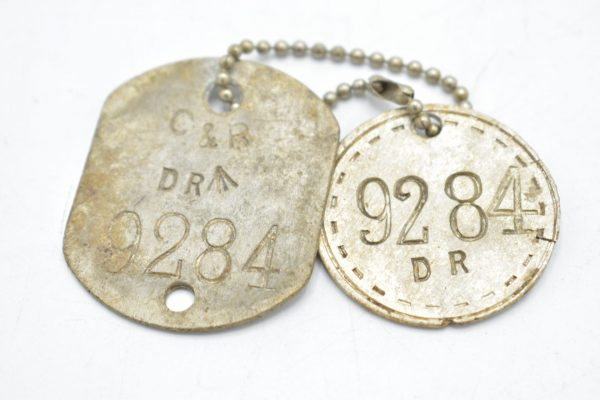 British WW2 Dogtag set 'DR 9284'