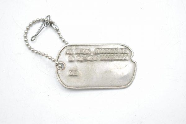 U.S WW2 Army Fourth type Dogtag 'John J Di Pietro'