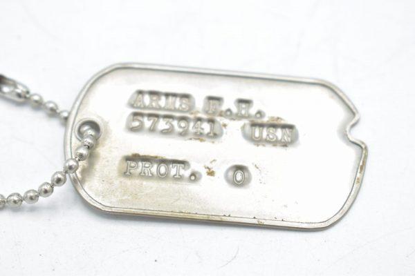 Postwar Dogtag USN '573941'